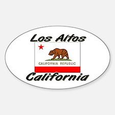 Los Altos California Oval Decal