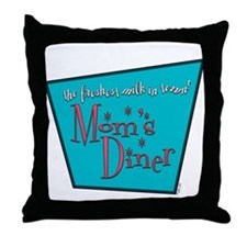 Mom's Diner Breast Milk Throw Pillow