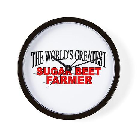 """The World's Greatest Sugar Beet Farmer"" Wall Cloc"