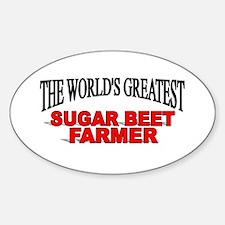 """The World's Greatest Sugar Beet Farmer"" Decal"