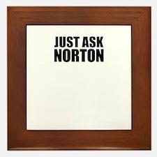 Just ask NORTON Framed Tile