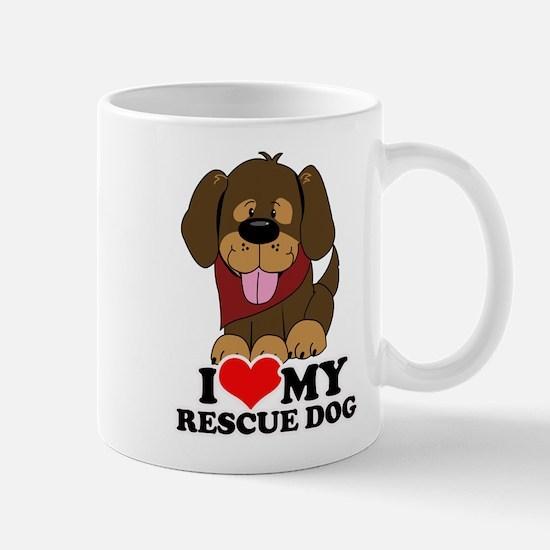 I love my Rescue Dog Large Mugs
