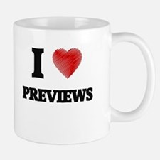 I Love Previews Mugs