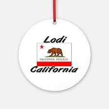 Lodi California Ornament (Round)
