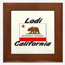 Lodi California Framed Tile