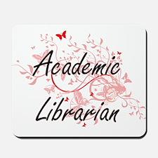 Academic Librarian Artistic Job Design w Mousepad