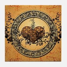 Heart made of rusty metal Tile Coaster