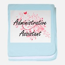Administrative Assistant Artistic Job baby blanket