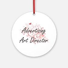 Advertising Art Director Artistic J Round Ornament