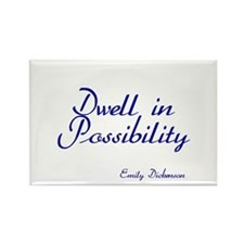 Dwell in Possibility Rectangle Magnet