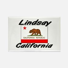 Lindsay California Rectangle Magnet