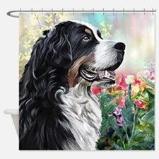 Bernese Mountain Dog Painting Shower Curtain