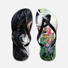 Bernese Mountain Dog Painting Flip Flops