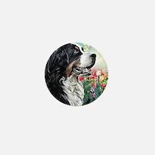 Bernese Mountain Dog Painting Mini Button