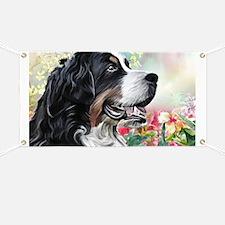 Bernese Mountain Dog Painting Banner