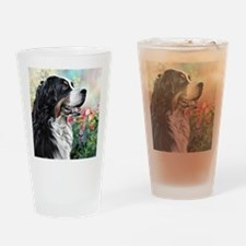 Bernese Mountain Dog Painting Drinking Glass