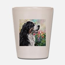 Bernese Mountain Dog Painting Shot Glass