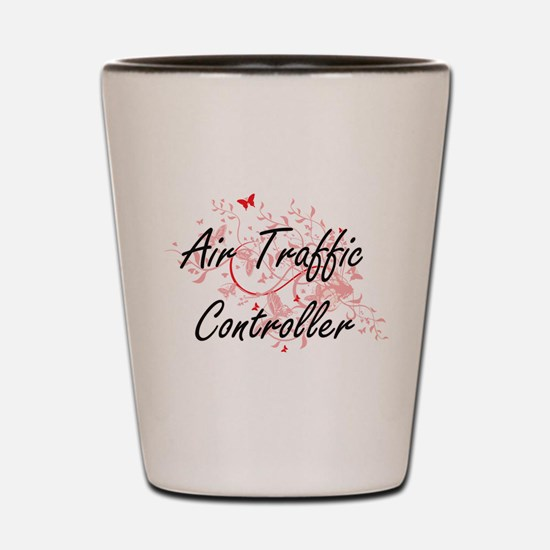 Air Traffic Controller Artistic Job Des Shot Glass