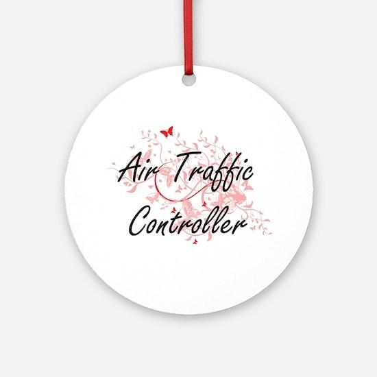 Air Traffic Controller Artistic Job Round Ornament
