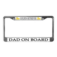 Golden Retriever Dad License Plate Frame