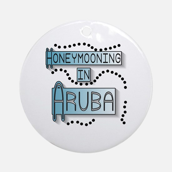 Blue Honeymoon Aruba Ornament (Round)