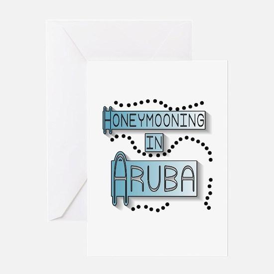 Blue Honeymoon Aruba Greeting Card