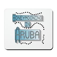 Blue Honeymoon Aruba Mousepad