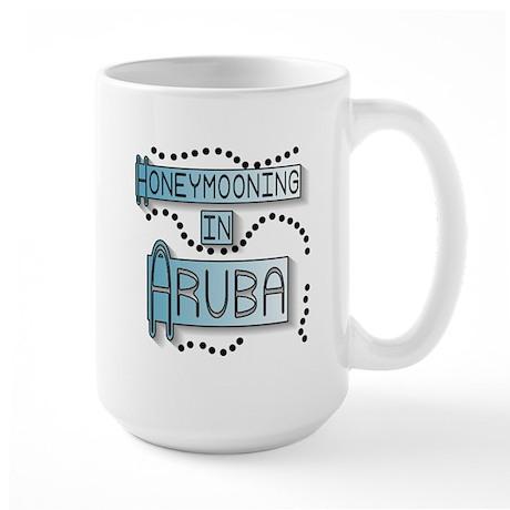 Blue Honeymoon Aruba Large Mug