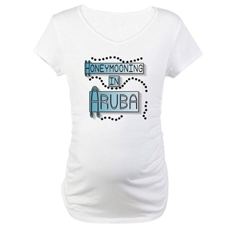 Blue Honeymoon Aruba Maternity T-Shirt