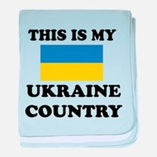 This Is My Ukraine Country baby blanket