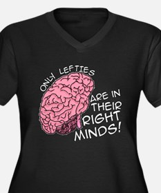 Only Lefties Right Minds Women's Plus Size V-Neck