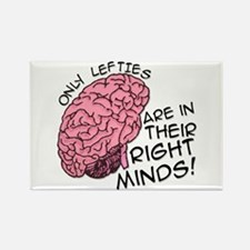 Only Lefties Right Minds Rectangle Magnet (10 pack