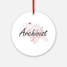Archivist Artistic Job Design with Round Ornament