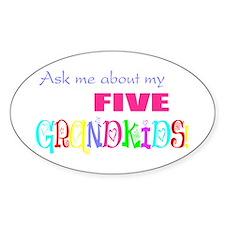 Five Grandkids Oval Decal