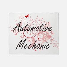 Automotive Mechanic Artistic Job Des Throw Blanket