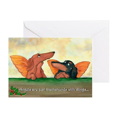 Dachshund Angels Christmas Card