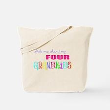 Four Grandkids Tote Bag