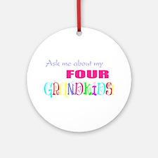 Four Grandkids Ornament (Round)