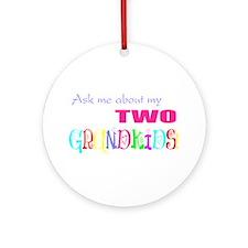 Two Grandkids Ornament (Round)