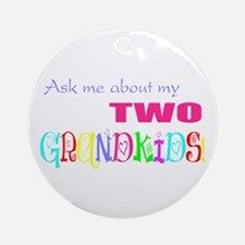 Two Grandkids Ornament (Round)
