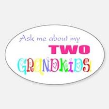 Two Grandkids Oval Decal