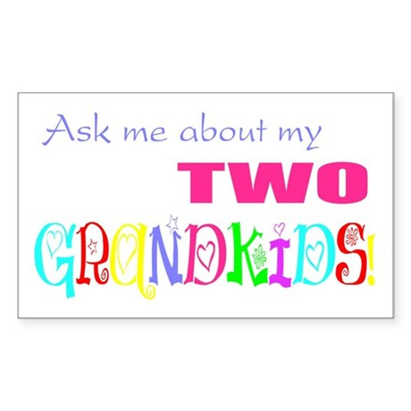 Two Grandkids Rectangle Sticker