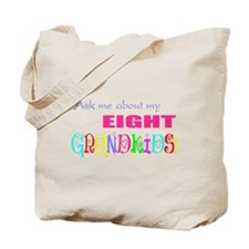 Eight Grandkids Tote Bag
