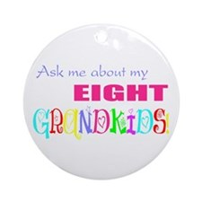 Eight Grandkids Ornament (Round)