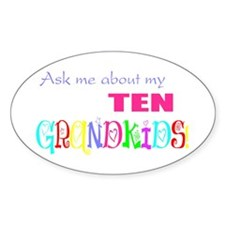 Ten Grandkids Oval Decal