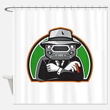 Mobster Car Grille Face Half Circle Retro Shower C