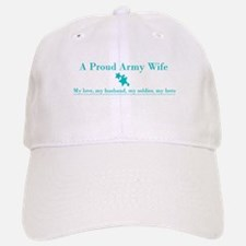 Proud Army Wife Baseball Baseball Cap - Teal