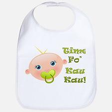 Time Fo'Kau Kau! Baby Bib