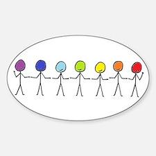 Rainbow People Decal