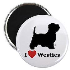 """I love Westies 2.25"""" Magnet (10 pack)"""
